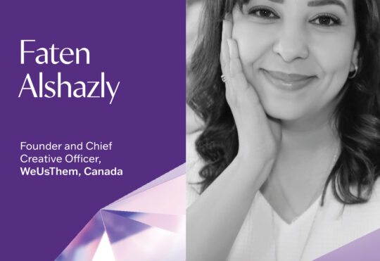 WeUsThem's Alshazly represents Canada for the female voice of advertising